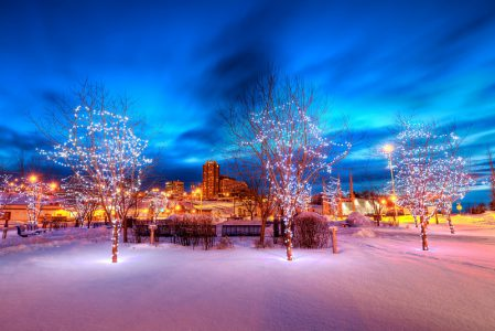 Celebrating Christmas in Alaska, North Pole