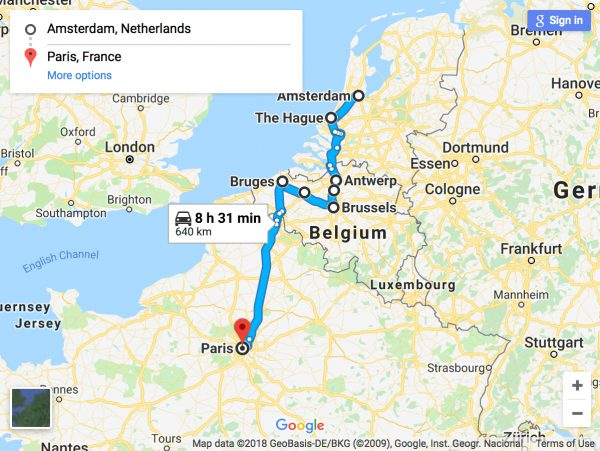 An Awesome Amsterdam to Paris Road Trip Via Belgium | Avis India on