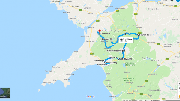 Places to visit in Wales Map