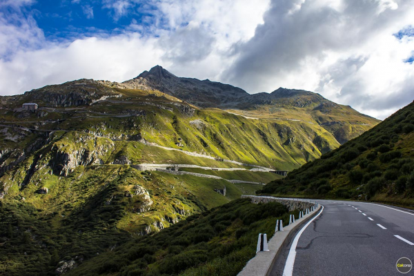 Road trip in Switzerland Furka Pass